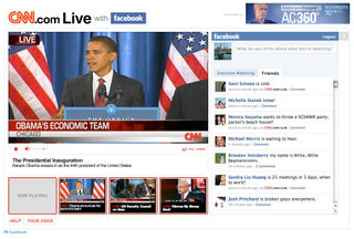Facebook Connect møder CNN live-tv